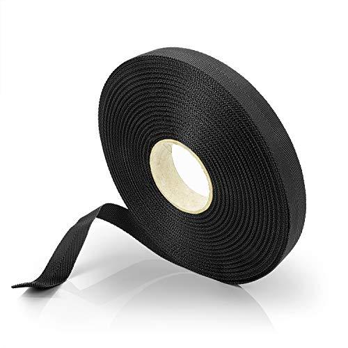 Effaband Baumanbinder - 25m Pflanzenbinder aus witterungsbeständigem & verrottungsfestem Polyester zur Baumbesfestigung/Das Pflanzenband zum Bäume anbinden in schwarz/Breite: 10 mm