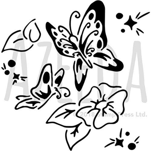 Azeeda A5 'Schmetterlinge & Blumen' Wandschablone / Vorlage (WS00041522)