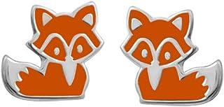 Boma Jewelry Sterling Silver Fox Stud Earrings