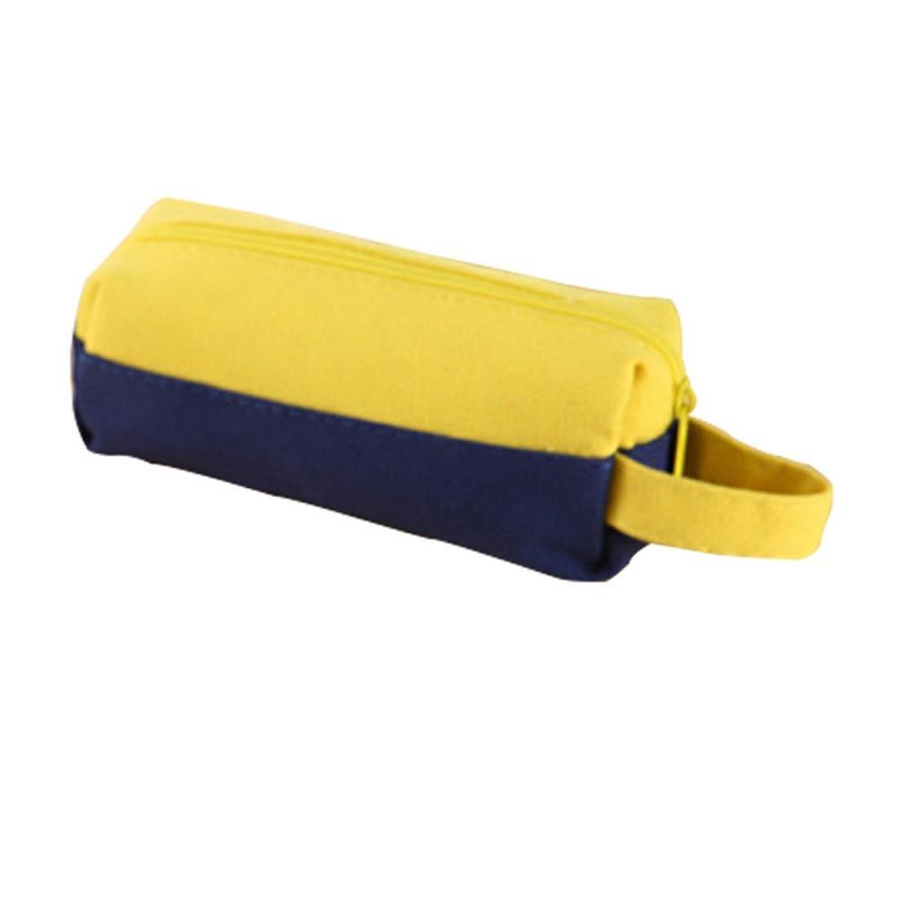 Estuche bolsa, biback Moderno Fácil Lienzo Stitch Pencil estuche grandes bolsillos lápiz, color Farbe Gelb: Amazon.es: Oficina y papelería