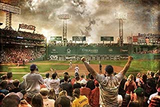 Boston Red Sox Fenway Park Green Monster Art Print