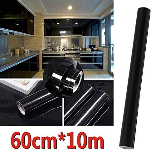 Easy Funny - Vinilo autoadhesivo para puertas de armarios, 5 a 10 m, negro, 10 m