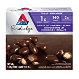 Atkins Endulge Treats - Chocolaty Covered Almonds, 1g Sugar, KetoFriendly - 5-Count