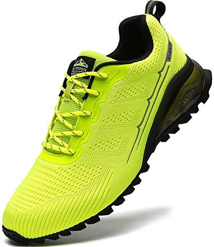MARDICATO Herren Sportschuhe Cushion Schuhe Laufschuhe Straßenlaufschuhe Atmungsaktiv Walkingschuhe Outdoor Fitness Jogging Schuhe EU41-50 (49,Grün)