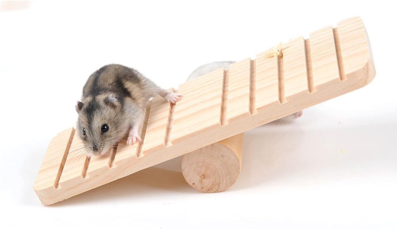 EWDF Hamster Ranking TOP18 Toys Chew Nursing Log 25% OFF Supplie Molar Seesaw Pet