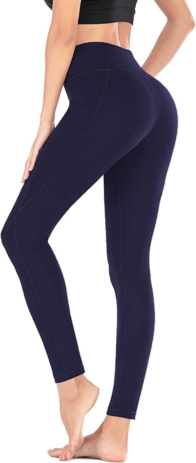 FULLSOFT Yoga Pants with Pockets for Women High Waisted Workout Tummy Control Pants for Women Pockets Leggings