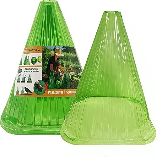 VDYXEW 20 Stück Pflanzenhut, Zum Schutz Vor Sonne, Frost, Schnecken Etc,Wiederverwendbare Pflanzenhut, Grün