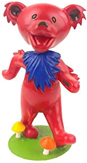 Kollectico DB6R Grateful Dead Dancing Bear Bobblehead, Red