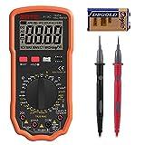 Multímetro Digital, ZOTO Polimetro 6000 cuentas con rango automático de AC DC Voltaje Tester Amperímetro, resistencia medición de la temperatura identificación del circuito
