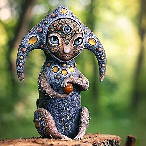showyow Criaturas de un Mundo de fantasía, Adorno de Estatua de jardín de Resina, decoración Oficina en casa, (Altura: 10 cm)