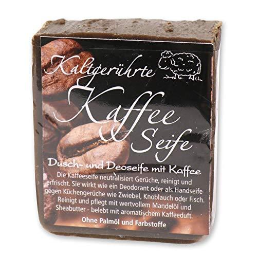 Florex Kaffeeseife Duschseife Handseife Deodorant neutralisiert Gerüche wie Zwiebel Knoblauch Fisch 150 g