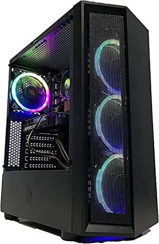 GOLOOK • PC Desktop Gaming RGB • Intel i5 • 16GB • SSD 480GB • WiFi • Scheda Video Dedicata GT1030 2GB • Windows 10 Pro X64 • Computer Fisso • 4 Ventole Raffreddamento