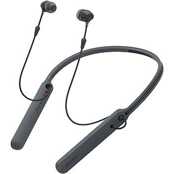 ソニー ワイヤレスイヤホン WI-C400 : Bluetooth対応 最大20時間連続再生 カナル型 マイク付き 2017年モデル ブラック WI-C400 B
