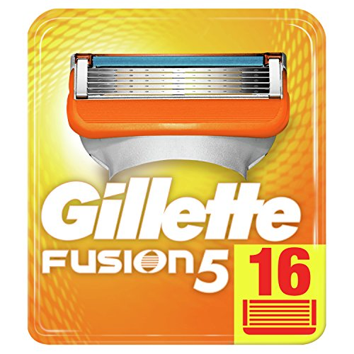 Gillette Fusion 5 Rasierklingen Für Männer, 16Stück, Briefkastenfähige Verpackung (Verpackung kann variieren)