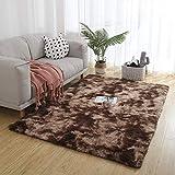Muutos Teppich Wohnzimmer 200x270cm, Teppichbodenmatte, Flauschig Weiche, Anti Rutsch, für Wohnzimmer, Schlafzimmmer, Kinderzimmer, Esszimme - Brown