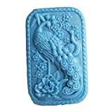 Longzang Peacock Mould S440 Craft Art Silicone Soap Mold Craft Molds DIY Handmade Candle Molds
