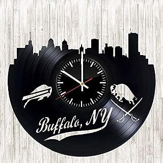 Buffalo Bills Vinyl Wall Clock Living Room Home Decor