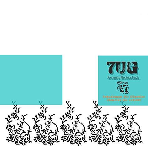 7UG Schablone Edinburgh, Bordüre, Bordürenmuster, Kunst, Hobby, Print