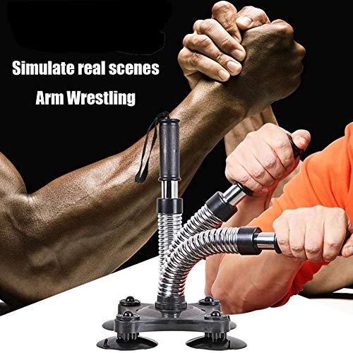 OOFAY Armwrestling Power Arm Grip Wrist Strengthener Hand Entwickler Stärke Trainer Athleten, Fitness-Enthusiasten, Profis Gym Equipment,Beginner,Schwarz,50LB
