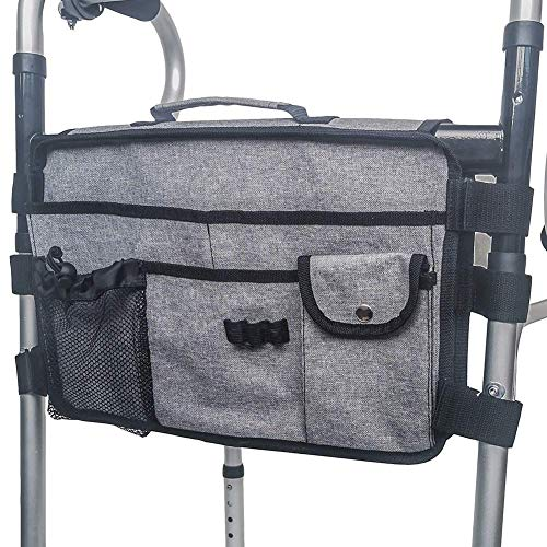 YIQIFEI Walker Bag Ligero Durable Nylon Universal Fit Organizador Bolsa de Transporte Bolsa de Viaje Bolsa de Accesorios Walker para Cualquier Estilo Rollo (Silla)