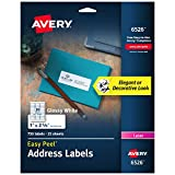Avery Return Address Labels for Laser Printers, 1' x 2-5/8', 750 Glossy White Labels (6526)