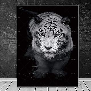 Decoración del hogar HD Animal Lienzo Pared Arte Pintura Tigre león Cartel Ciervo Imprimir,Pintura sin marco-50X67cm