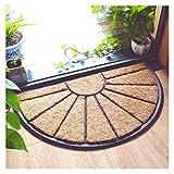 ZLSP Alfombras Semicírculo natural de coco felpudo de la puerta...