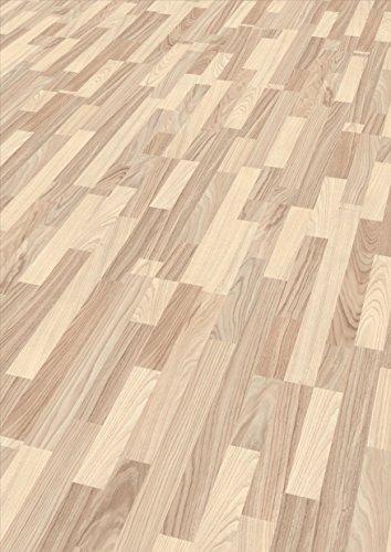 EGGER Home Laminat hell braun Holzoptik - Esche weiss  EHL024 (7mm, 2,481 m²) Klick Laminatboden | Bodenbelag