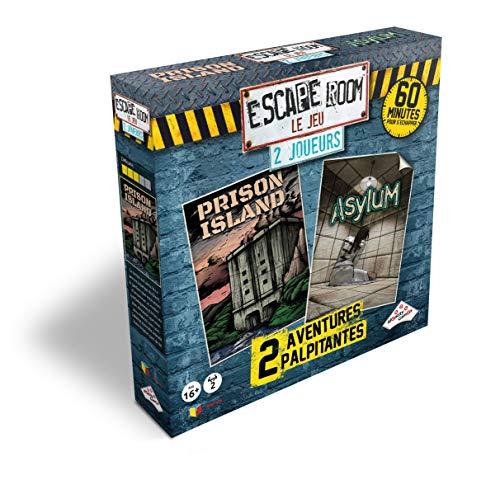 RIVIERA GAMES- Coffret Escape Room Le Jeu 2 Joueurs, 5073, Asylum, Prison Island E Kidnappé