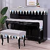 C + Funda para piano - 3 piezas de cubierta superior vertical estándar para teclado, taburete para piano, cubierta protectora para piano