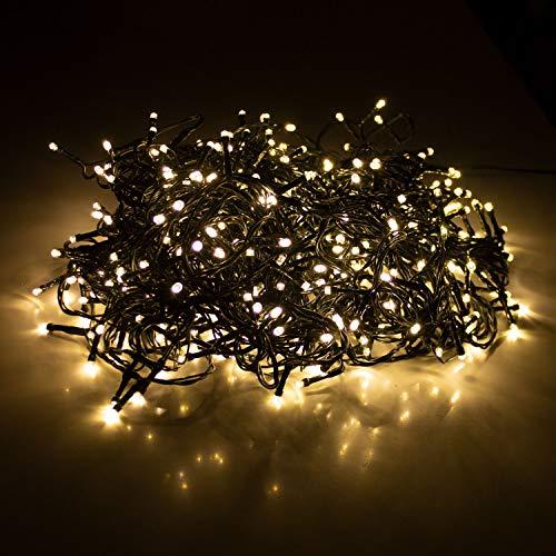 LED Lichterkette mit 480 LEDs Warmweiß | Beleuchtung für Innen & Außen | Garten Dekoleuchte Weihnachtsdekoration (Gesamtlänge: ca. 39 m)
