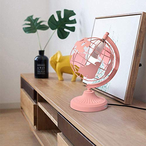 Lievevt Lámpara Escritorio Cama Dormitorio Personalidad Creativa Linterna LED Estudiante Lectura lámpara de Mesa lámpara de Bola Moda Simple lámpara para ni?os 1 * (28 * 38 cm) (Color:Amarillo)