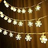Luci a stringa LED Natale fiocco di neve ghirlanda vacanza fiaba luci decorative luci stringa Batteria 10m100 led