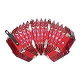 Seis Esquinas de acordeón Adultos Mayores Rendimiento Profesional Colores múltiples,Red