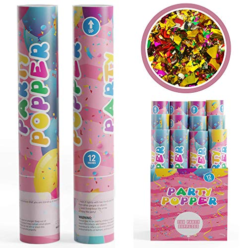4. TUR Party Supplies Confetti Cannons Party Poppers