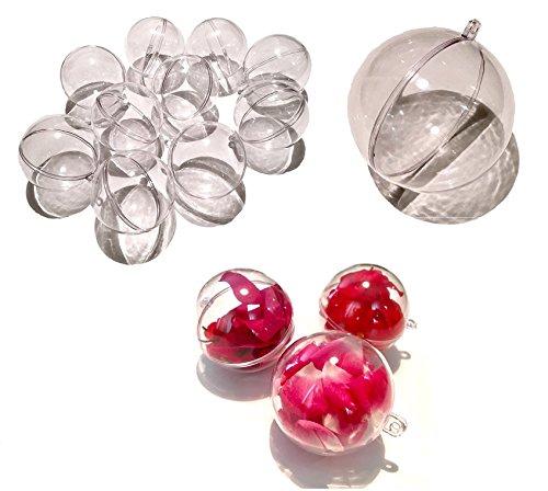 CRYSTAL KING 10 stuks acryl ballen 10 cm groot knutselballen acryl bal transparant deelbaar doorzichtig kunststof bal acryl acryl bal acryl ballen 10mm