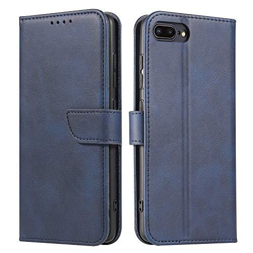 Ancase Custodia Portafoglio per Apple iPhone 5 5S SE Blu Flip Cover in Pelle aLibro Wallet Case Porta Carte per Donna Ragazza Uomo