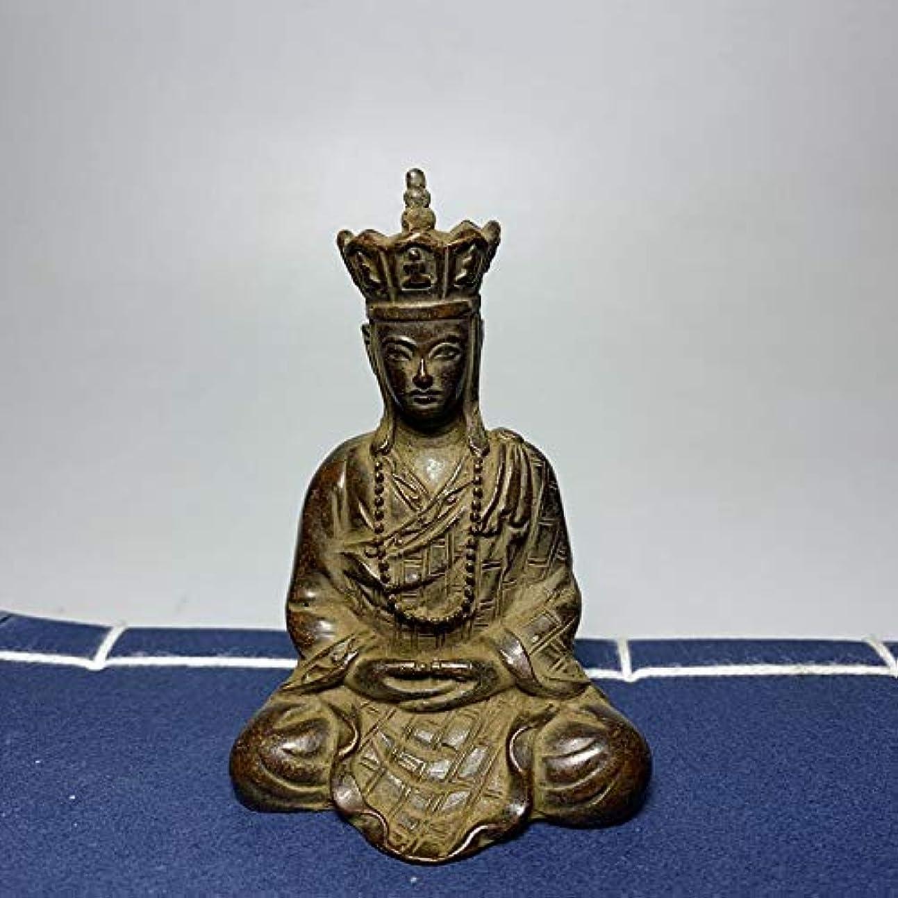 成人期呪いシャッフルアンティークコレクションチベット仏像ピュアブロンズ仏像