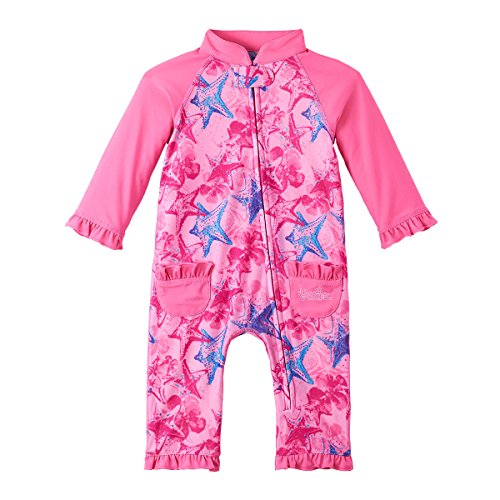 UV SKINZ UPF 50+ Baby Girls' Sun & Swim Suit - Bubblegum Starfish - 3/6m