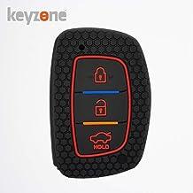 keyzone® Keycare® Silicone Key Cover for Creta; Elite i20; Active i20; Aura (Push Button Start Models only) (Black)