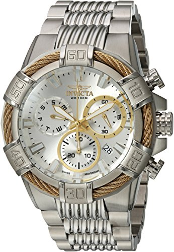 Invicta Men's Bolt Quartz Watch with Stainless-Steel Strap, Silver, 16 (Model: 25863)