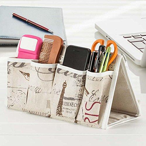 Estilo europeo de escritorio multi-celular bolsa de almacenamiento Caja de almacenamiento , paris tower style , 27x15x12cm