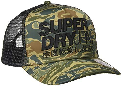 Superdry Lineman Trucker Cap Gorra de béisbol, Verde (Green Camo Fdt), Einheitsgröße para Hombre