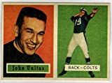 JOHNNY UNITAS 1957 Topps #138 Rookie Card REPRINT - Football Card. rookie card picture