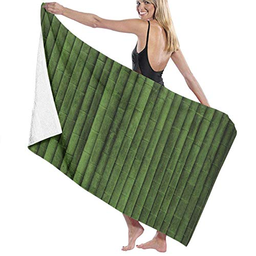 Soft Comfortable Large Bath Towels, Super Absorbent Quick Dry for Beach Surfing Swimming Hotel Spa Yoga - Green Bamboo Bath Sheet