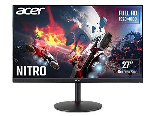 Acer XV270P Gaming Monitor 27 Zoll (69 cm Bildschirm) Full HD, 165Hz OC, 144Hz, 2ms (G2G), 2xHDMI 2.0, DP 1.2, höhenverstellbar, drehbar, HDMI/DP FreeSync Premium