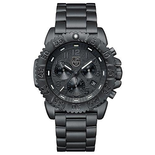 Luminox Herren Chronograph Quarz Uhr mit Edelstahl Armband XS.3182.BO.L