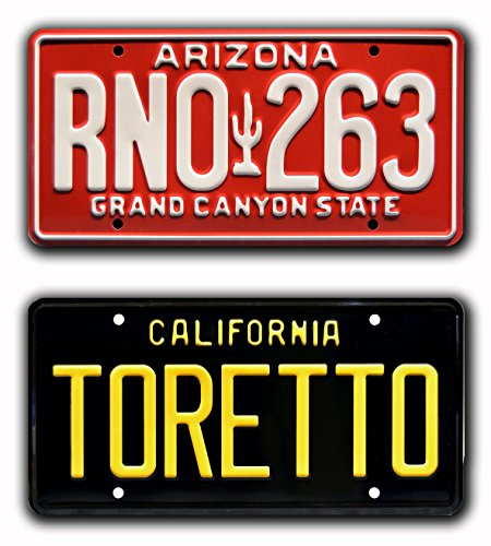 Fast & Furious | TORETTO + RNO 263 | Metal Stamped License Plates