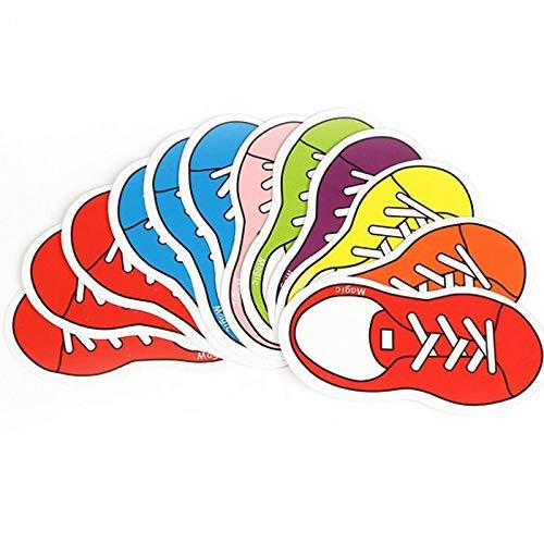 1set de magia de los zapatos de predicción trucos de magia de profecía zapatos de acercamiento de la calle, accesorios de magia ilusión (color: A)