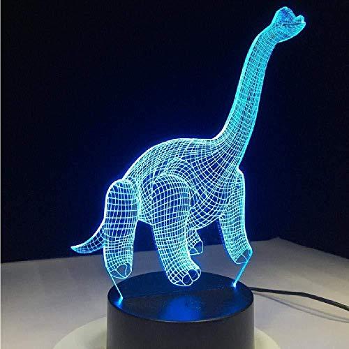 Cadeau créatif 3D dinosaure acrylique veilleuse USB sommeil luminaire chambre décor enfants cadeau